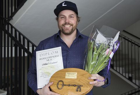 Mikael Lindnord får Örnsköldsviks hedersstipendium