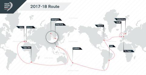 Volvo Ocean Race - rutt