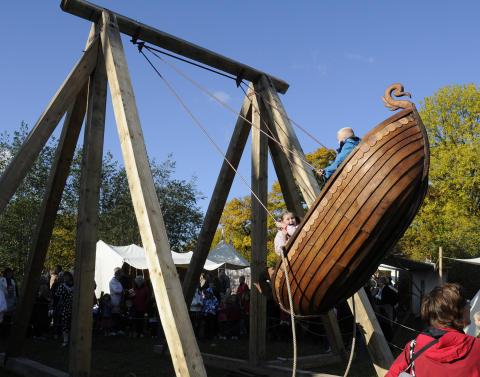Forlystelser til historisk marked på Frilandsmuseet