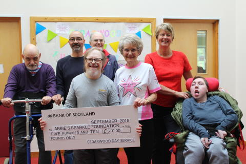 Maximum effort at Cedarwood to raise funds for Abbie's Sparkle Foundation
