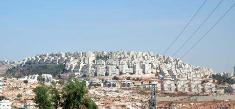 En israelisk bosättning utanför Betlehem