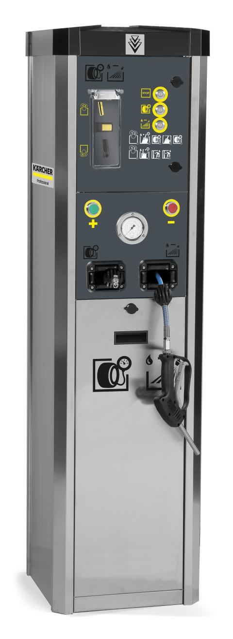 Vatten- och lufttornet erbjuder däcktrycksmätning och korrigering samt en vattenpåfyllningsfunktion.