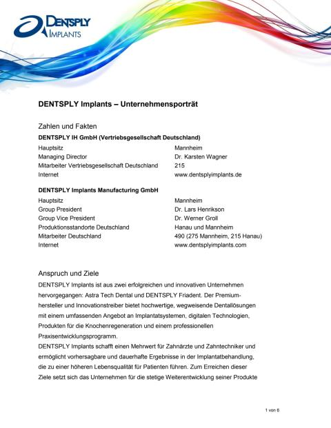 DENTSPLY Implants – Unternehmensporträt