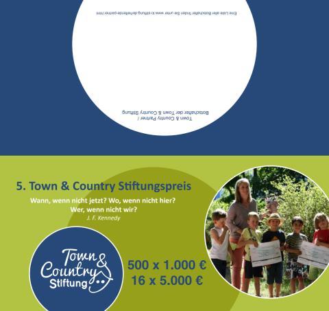 Flyer zum 5. Town & Country Stiftungspreis