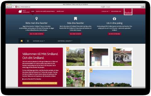 Succé för webbplatsen Mitt Småland
