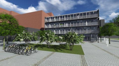 Nu byggs 156 innovativa studentlägenheter vid Lindholmspiren