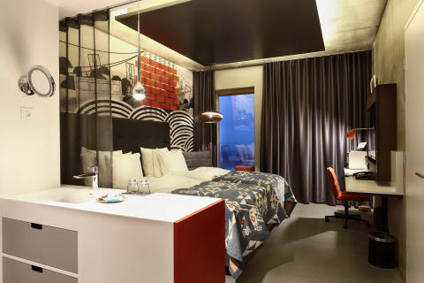 Guest room at Hotel Torni Tampere, Finland, by Stylt