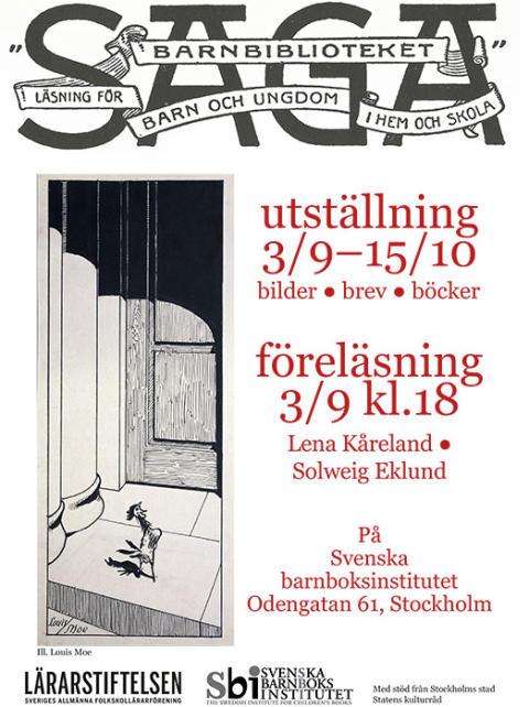 Svenska barnboksinstitutet visar unika brev och orginalillustrationer ur Barnbiblioteket Saga