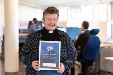 Nätprästen Charlotte Frycklund utses till Månadens Nätängel februari 2020