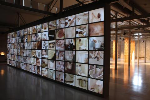 """Installationsbild """"Arbete i hemmet"""" Petra Hultman"""