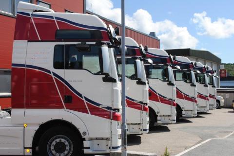 Seks MAN TGX til H.K. Solberg Transport AS
