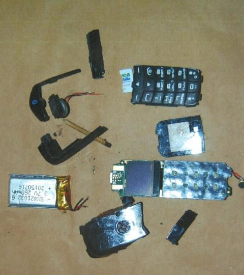Recovered mobile phone