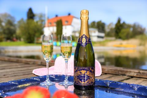 Champagne på bryggan