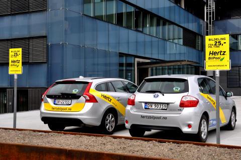 Bedrifter deler biler som aldri før. Hertz BilPool åpner på IT Fornebu.
