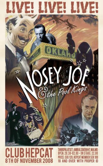 Nosey Joe & The Pool Kings på Tangopalatset i Malmö