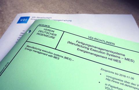 Energiemanagement mit MES – neue Richtlinie vom VDI