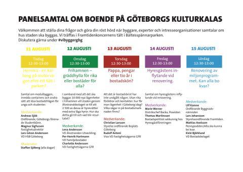 Framtidenkoncernens panelsamtal på Kulturkalaset 2015