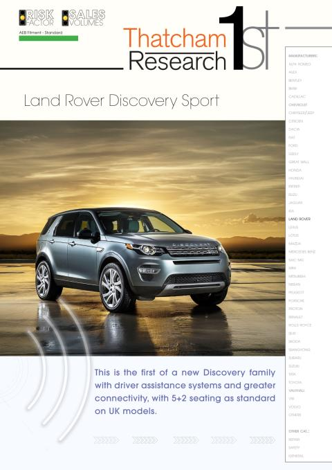 Thatcham 1st : Land Rover Discovery Sport