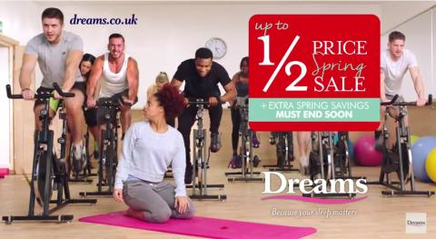 Dreams Yoga TV ad - girl wakes up in spinning class