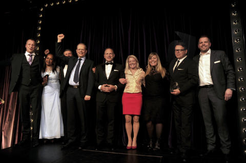 Hoteldirektør hos Scandic tildeles Award ved Scandic President's Award ceremony i Stockholm