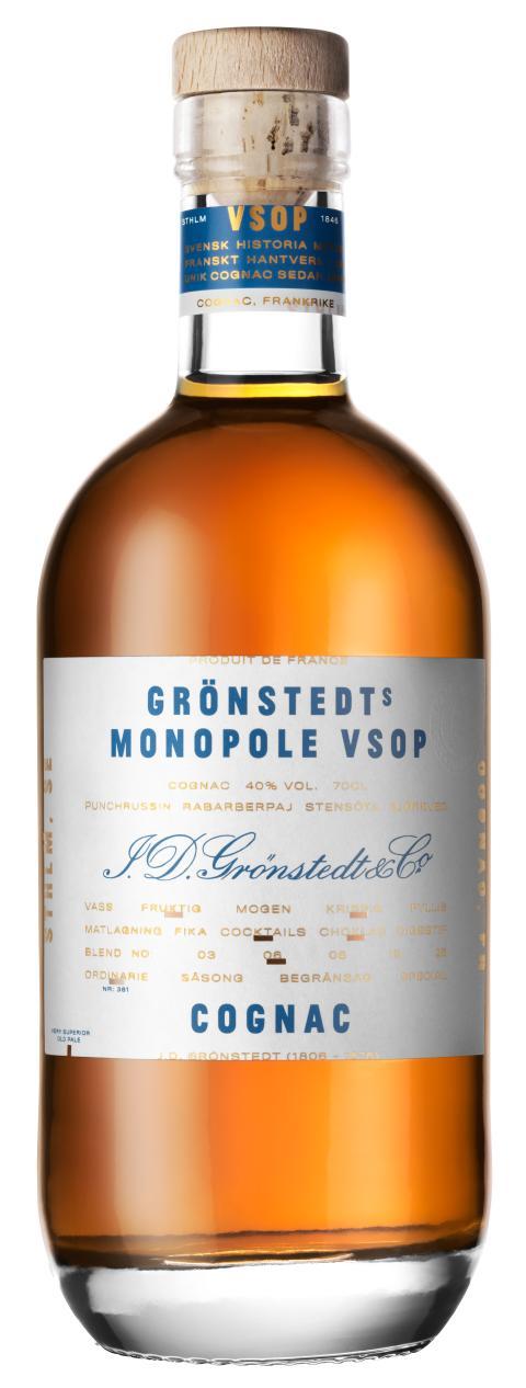 Grönstedts Cognac Monopole VSOP 700 ml