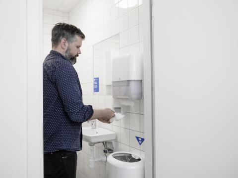 Tork PaperCircle Washing hands 1 bin