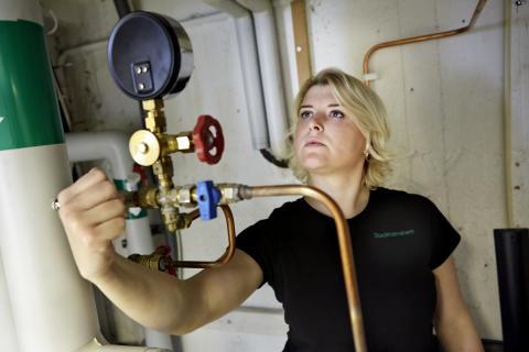 Nataliya Alikina, energitekniker hos Stockholmshem