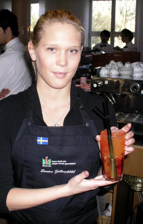 Louise Zettersköld i europeisk bartendertävling