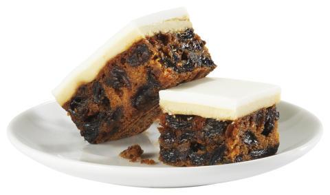 Gluten Free Fruitcake Slice