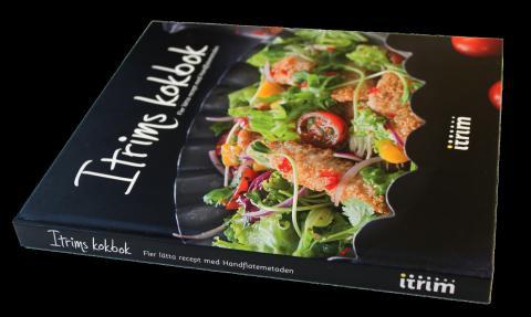 """Itrims andra kokbok """"Fler lätta recept med Handflatemetoden"""", liggande"""