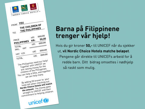 Nordic Choice Hotels lanserer 50 for Life for Filippinene