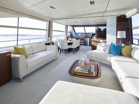 High res image - Princess Motor Yacht Sales - Princess 75 interior saloon