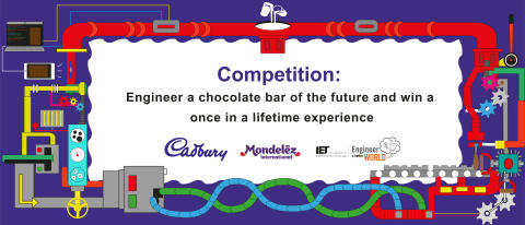 Mondelez International partners with the IET to bring the #ISeeMore competition to kids across the UK - challenging them to engineer a chocolate bar of the future