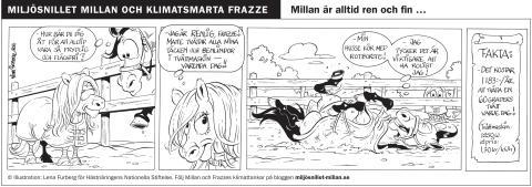 Hur kan Millan alltid vara så ren? Se efter själv i Millans och Frazzes seriestripp del 4