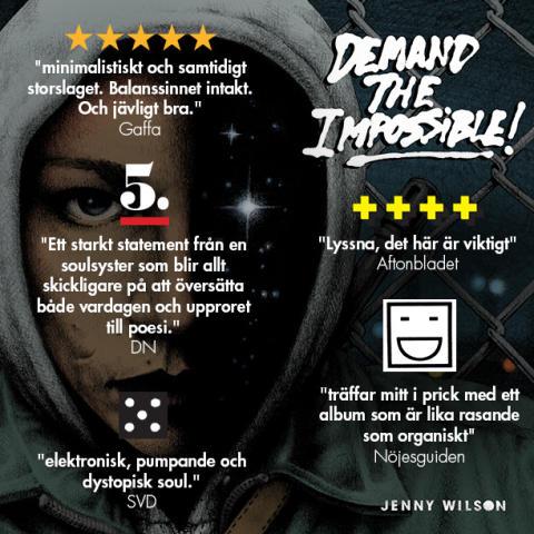 DEMAND THE IMPOSSIBLE! – Jenny Wilson släpper ett fantastiskt hyllat album idag.