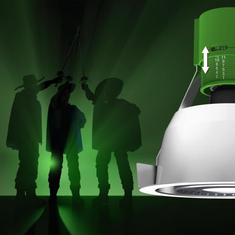 Wila-Musketeer – armaturen med justerbar lamphållare. Bild 1.