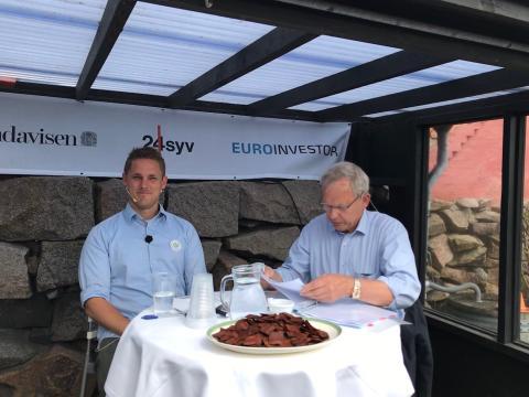 Henrik Vindfeldt i debat med forman for Landbrug og Fødevarer, Martin Merrild i BTs livetelt om lørdagen