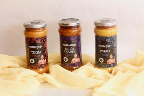 Hjemmelaget Butter chicken, Tikka masala, Korma på 1-2-3!