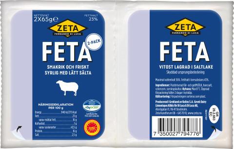 Zeta Fetaost i 2-pack produktbild
