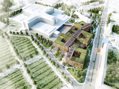 Nya sjukhusområdet i Helsingborg