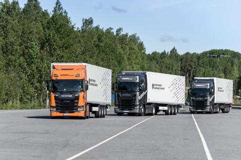 Lkw-Platooning wird im realen Transportbetrieb getestet