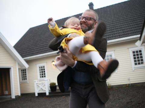 Pappa Aleksander Helmbersberg og Milla