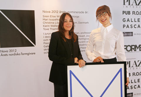 Monika Förster and Mari Isopahkala från Finland, winner of Nova Nordic Designer of the Year