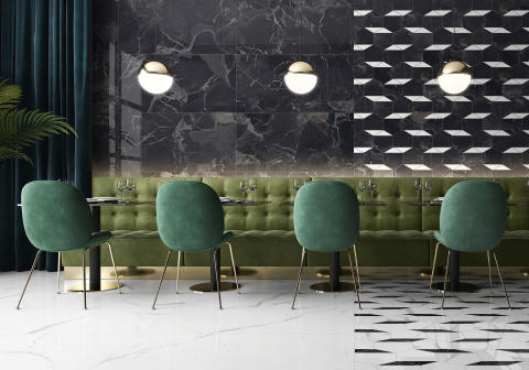 New Tiles for 2020 by Villeroy & Boch  -  NOCTURNE: The timeless elegance of marble in a modern interpretation  - Exquisite design and décor concept for walls and floors