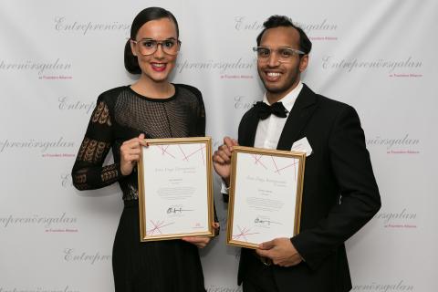 Sveriges främsta Unga Entreprenör 2012 utsedd: Norrländskt glasögonvarumärke med tydlig modeinriktning - en framgångssaga