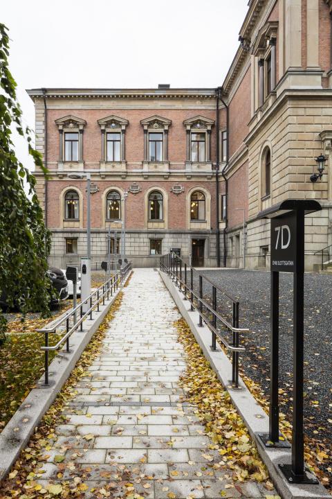Uppsala universitetshus, tillgänglig entré. Foto: Anders Fredriksén.