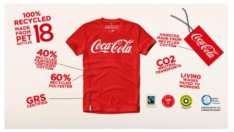 Coca-Cola-flaskor blir till arbetskläder