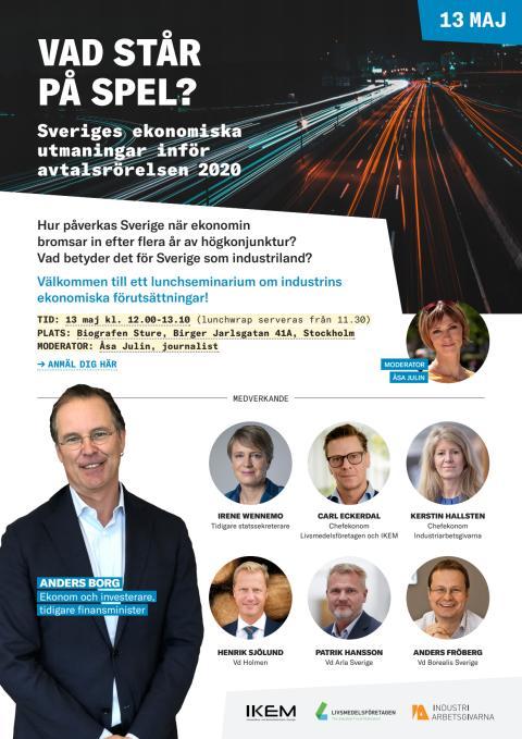 Vad står på spel? Sveriges ekonomiska utmaningar inför avtalsrörelsen 2020