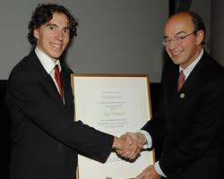 Karl Wennberg tilldelas Partnerprogrammets Forskarpris 2011