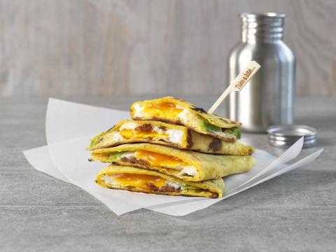 Quesedilla med egg og bacon